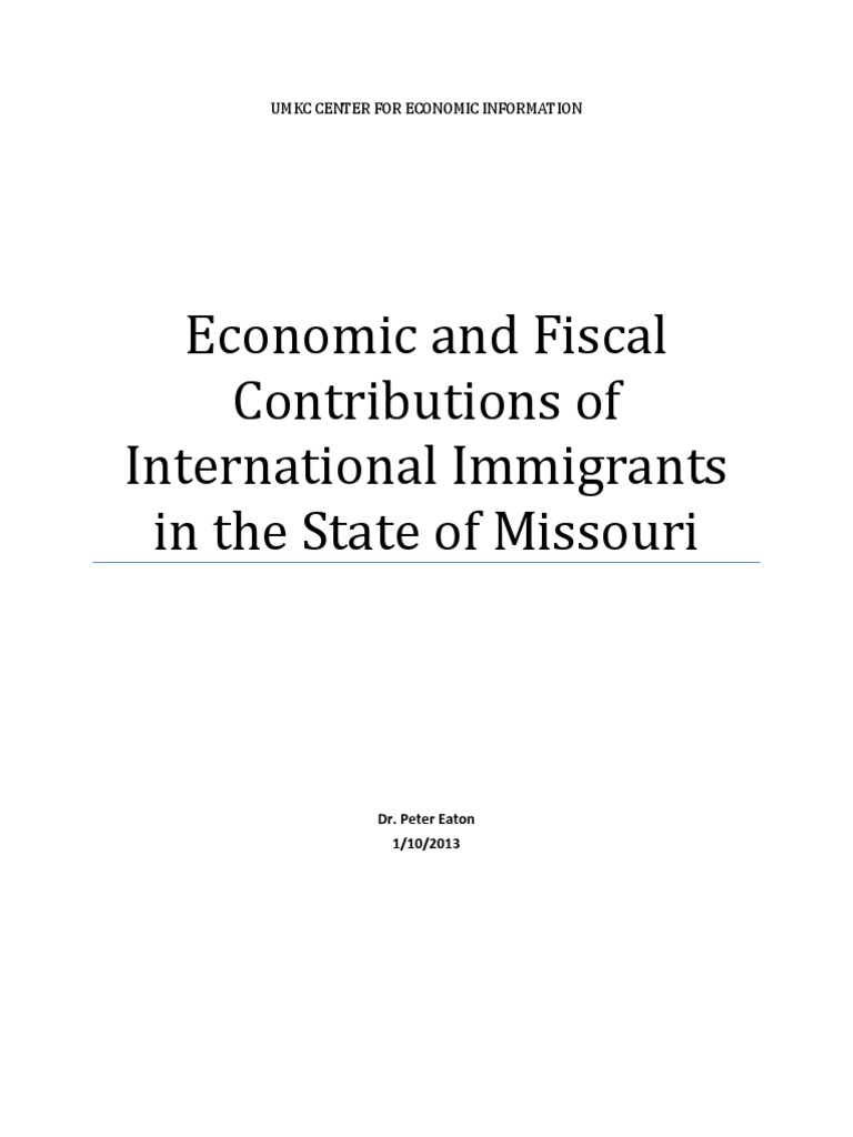 Contributions of International Immigrants in MO | Immigration