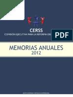 Memoria Comisión Ejecutiva Reforma Sector Salud 2012
