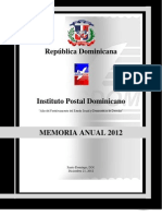 Memoria Instituto Postal Dominicano 2012