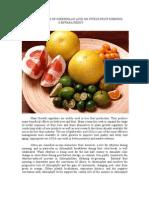 Influence of Gibberellic Acid on Citrus Fruits