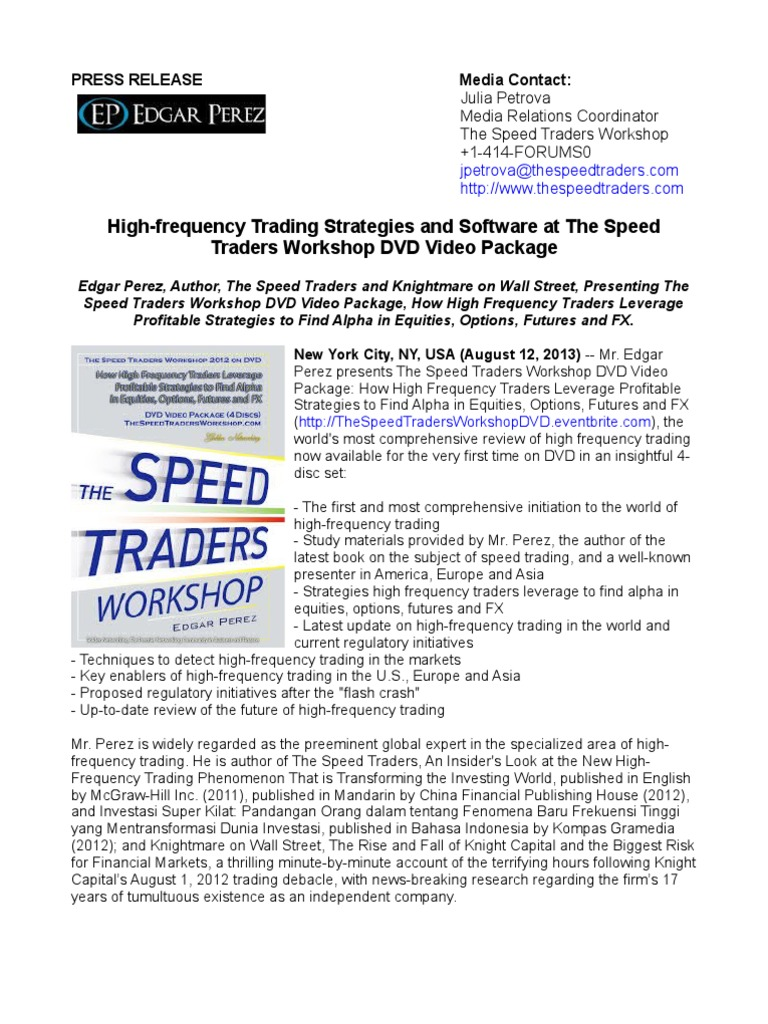 High-frequency Trading Strategies and Software at The Speed