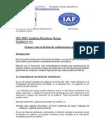ISO 9000 Guía de Grupo para Prácticas de auditoría