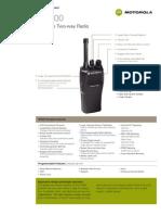 AMZ Motorola CP200 Radio Specifications