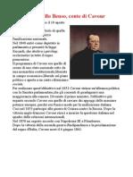 Camillo Benso Di Cavour.