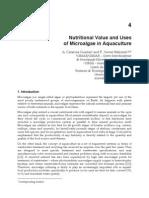 Valor Nutricional y Usos SP en Acuacultura