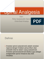 Spinal Analgesia