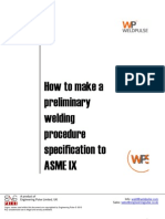 How to Write a Preliminary Welding Procedure Specification (pWPS)