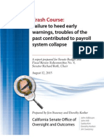 SCO Payroll Project Report, Senate Office of Oversight and Outcomes
