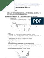 MEMORIA DE CÁLCULO HIDRAULICO  CANAL PURGATORIO