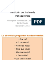 Medición del Indice de Transparencia
