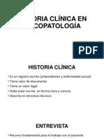 HISTORIA CLÍNICA EN PSICOPATOLOGÍA
