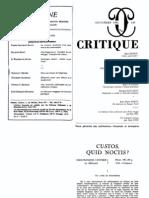 Badiou - Custos, Quod Noctis