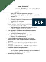 Agenda Internship