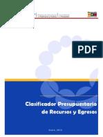 Clasificador Presupuestario Onapre