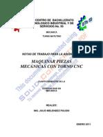 Notas Julio Melendez Torno Denford Cnc1