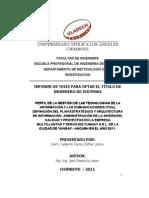 Perfil de La Gestion de Las Tic Definicion de Plan Estrategico Yungay - Local
