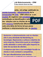 Marketing de Relacionamento - CRM Palestra Em M. Ribas 2012