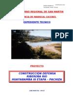 Memoria Descriptiva, Especificaciones Tecnicas