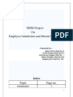 Hrm project on employee satisfaction