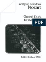 Mozart - Grand Duo for Flutes