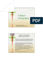 E Beam Lithography