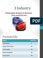 Comparative Analysis of Domino's     	     Pizza and Pizza Hut
