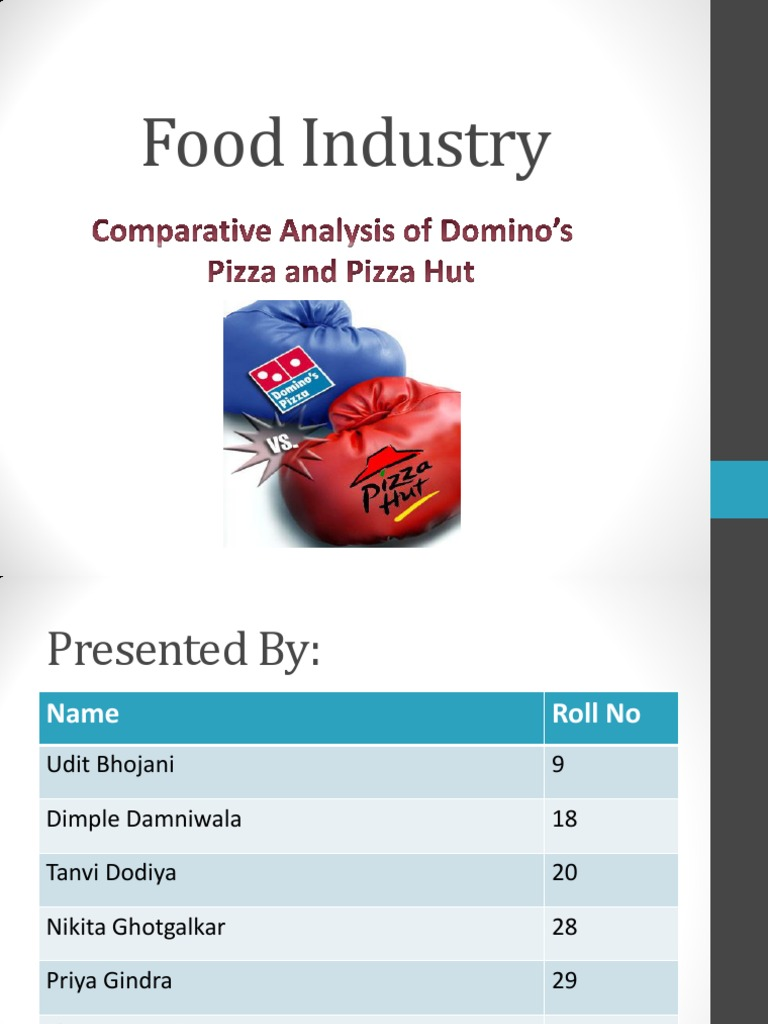 questionnaire on comparison between pizza hut and dominos