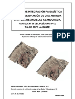 Restauración Paisajística cantera de Aspe