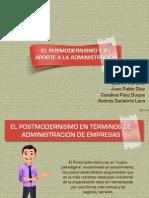 EL POSMODERNISMO Y SU APORTE A LA ADMINISTRACIÓN