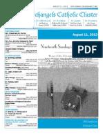 Bulletin Aug 11, 2013