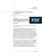 Arne Naess, Ecosophy, Population, And Sustainable Development