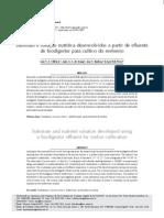 Substrato e solução nutritiva desenvolvidos a partir de efluente de biodigestor para cultivo do meloeiro