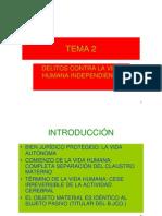 Tema 2.Delitos Contra La Vida Humana Independiente