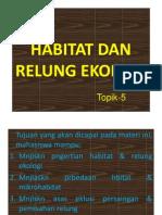 Bab Vi. Habitat & Relung Ekologi