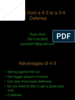 Shifting From a 4-3 to a 3-4 Defense