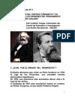 El Manifiesto Del Partido Comunista y Su Influencia en Los Origenes Del Pensamiento Revolucionario Chileno