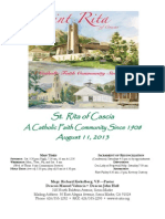 St. Rita Parish Bulletin 8/11/2013