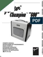 Champion 600 Manual