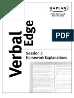 Verbal Edge Hw 3 Explanations