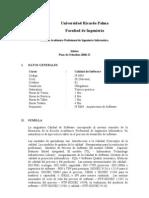 If 0905 Calidad de Software 2008-I