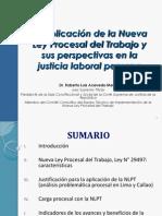 Aplicacion de La Nueva LPT y Sus Perspectivas en La Justicia Laboral-Roberto Acevedo