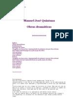 Obras Dramáticas _ Manuel José Quintana
