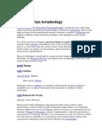 Heideggerian Terminology