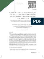 Caracterizacion de Mircoalgas Con Potencial en Biofuels