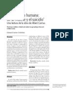 La Condicion Humana + de La Muerte y El Suicidio + Una Lectura de La Obra de Albert Camus