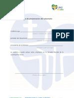 Carta de presentación del voluntario