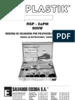 Maquina Polifusion Instruc RSP2Apm Peque
