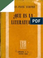 Jean Paul Sartre Que Es La Literatura