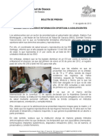 11/08/13 Germán Tenorio Vasconcelos BRINDA SSO ATENCIÓN E INFORMACIÓN OPORTUNA A ADOLESCENTES