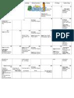 Aug 2013 Peace Lutheran Church Calendar